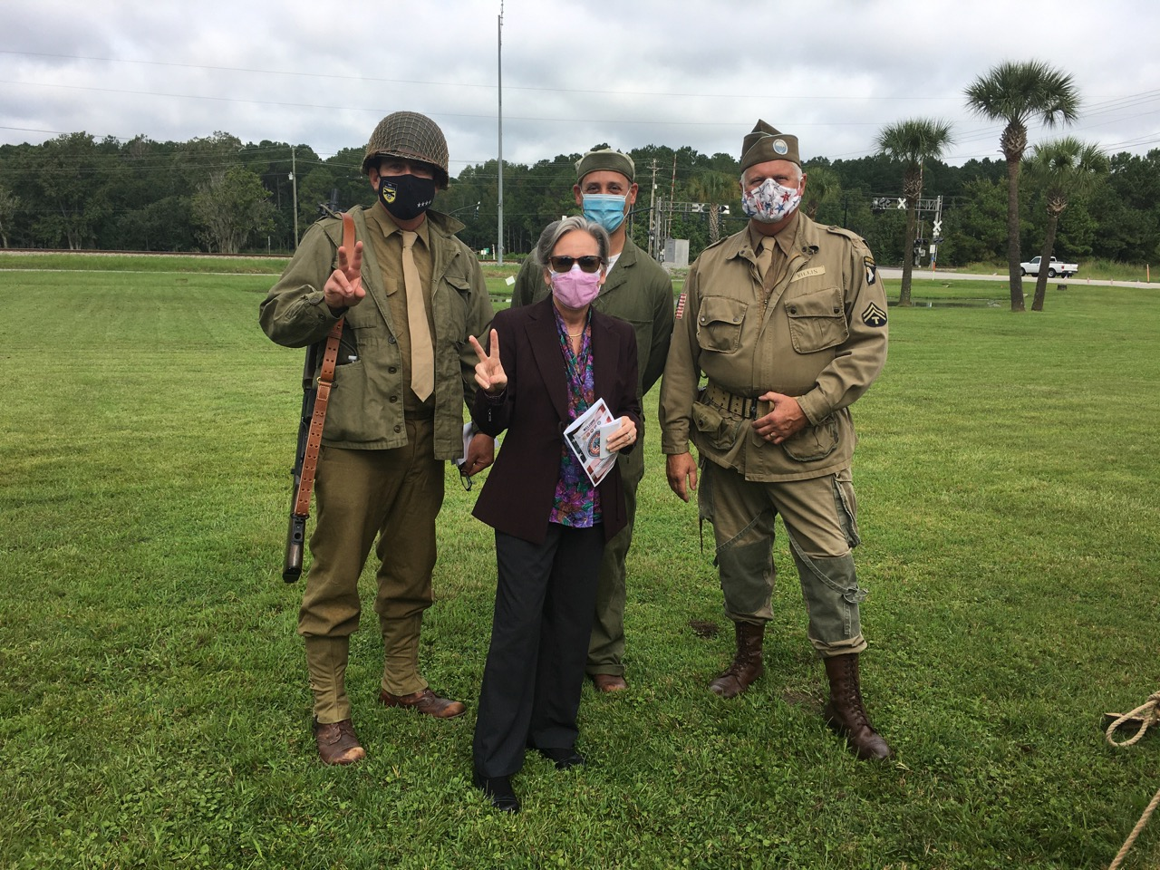 Gayla with military actors